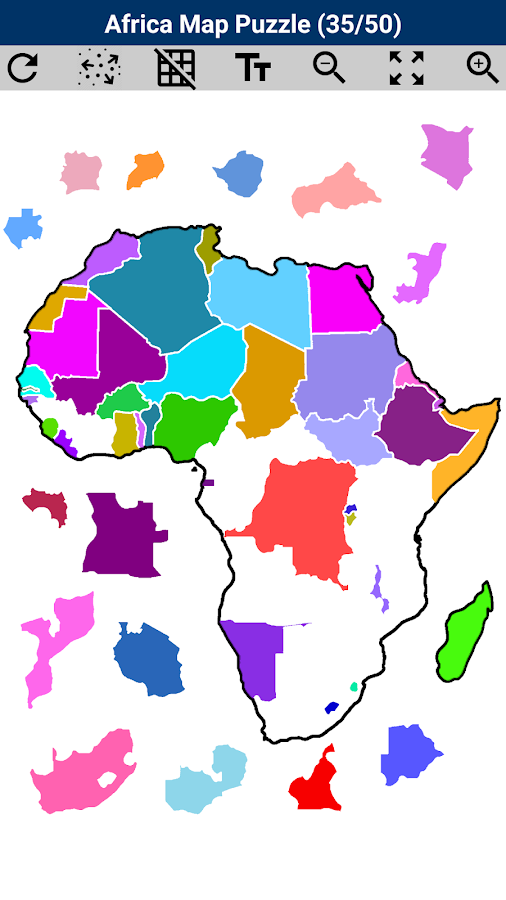 Africa Map Puzzle- screenshot