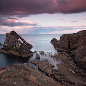 Bow Fiddle Rock by Iain Cathro - Novices Only Landscapes ( scotland, moray, seascape, landscape, bow fiddle rock )