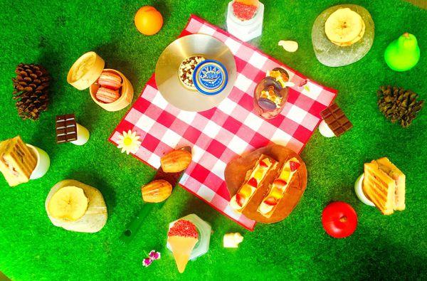能在室內優雅野餐的Yellow Lemon Dessert Bar 黃檸檬*華麗少女心下午茶