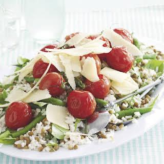 Roast Tomato and Lentil Salad.