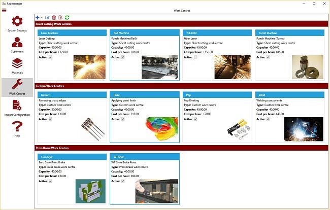 Radmanager – простой способ введения данных из заказов клиентов и преобразования их в раскладки на металлическом листе в Radan.