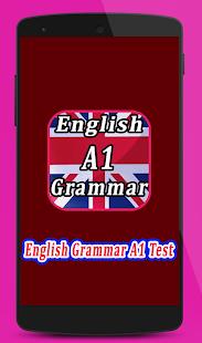 English Grammar Test A1 - náhled