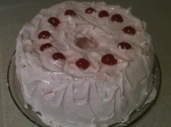 Cherry Angel Food Cake With Divinity Icing Recipe