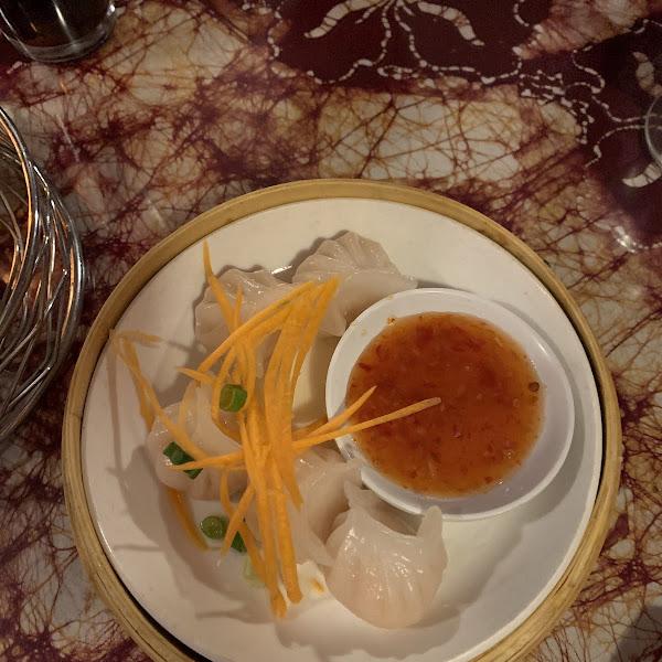 Gf rice shrimp dumplings