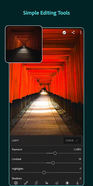 Adobe Lightroom - Photo Editor & Pro Camera Android App Screenshot