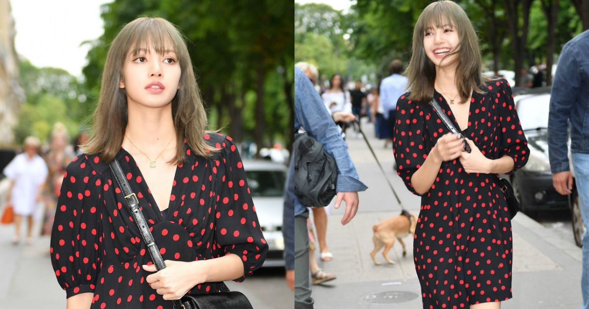 BLACKPINK's Lisa Is A Vision In Black Walking The Streets Of Paris During Paris Fashion Week