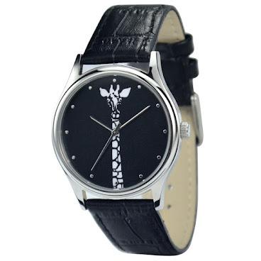 黑白長頸鹿手錶