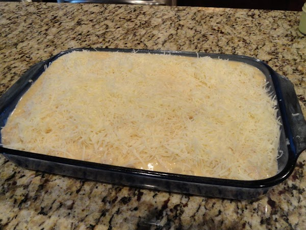After preparing spaghetti, drain and pour into prepared baking dish. Pour turkey mixture over...