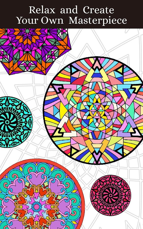 Mandalas Adult Coloring Book Screenshot