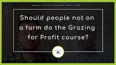 Should people not on a farm do the Grazing for profit course
