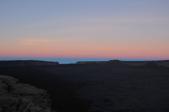 Photo: On day 4, I rise early to see the sunrise. Here's a pre-dawn view of the caldera looking toward South Pit.