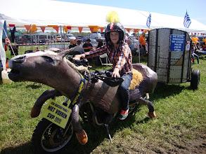 Photo: ook Melvin wilde wel eens zo'n paard uitproberen...