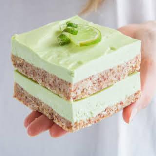 Raw Key Lime Pie Bars.