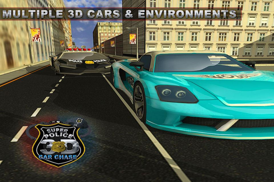 Super Police Car Chase 3D- screenshot