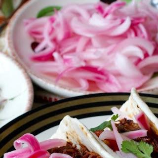 Guajillo-Braised Beef Short Rib Tacos.