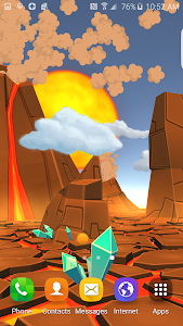 3D Cartoon Volcano Live WP v1