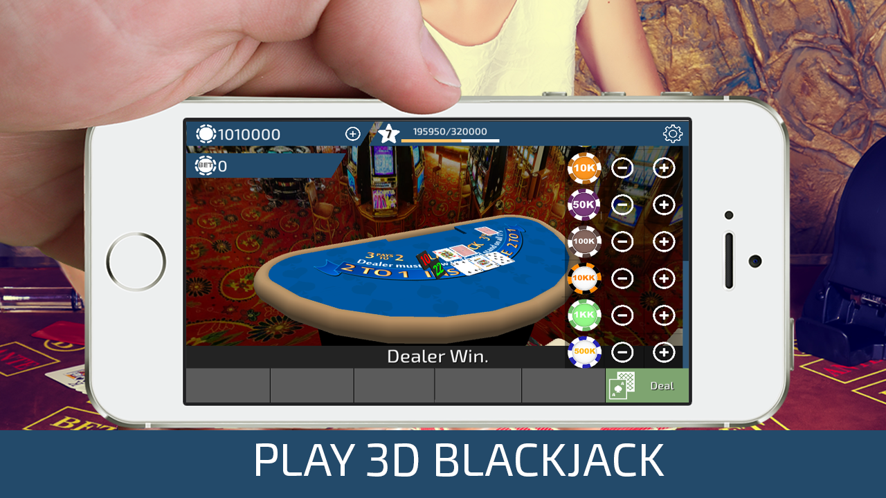 Blackjack 3D: captura de tela