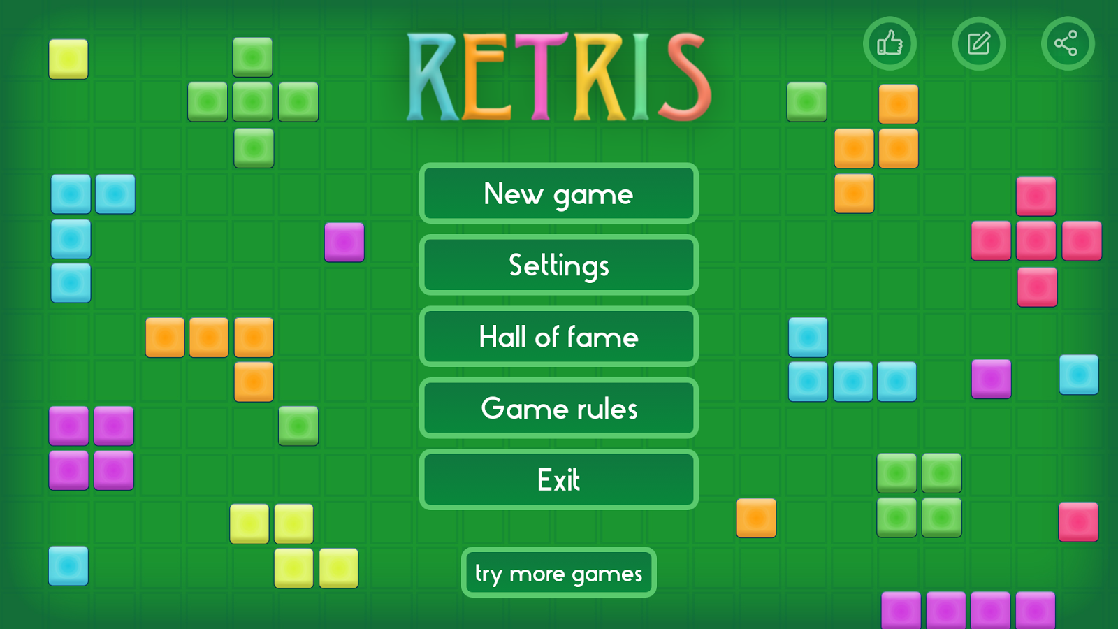 Retris- screenshot