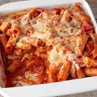 Chicken & Pepper Pasta Bake.