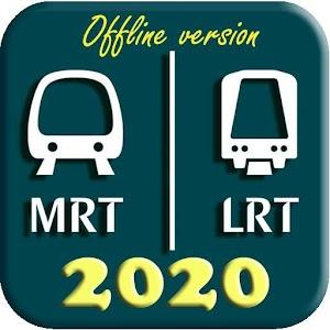 Singapore MRT Map 2020 (Latest!) 201 by SGAPP logo