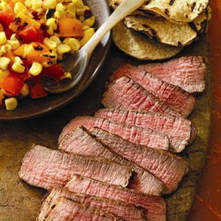 Grilled Southwest Steaks with Sunset Salad