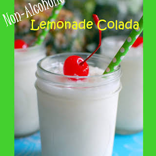 Non Alcoholic Lemonade Colada.