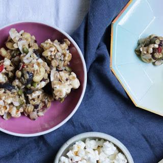 No-Bake Trail Mix Popcorn Clusters [Vegan, Gluten-Free].