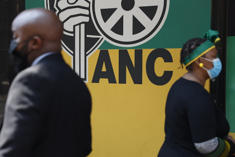ANC staff picket outside Luthuli House in Johannesburg. Picture: THULANI MBELE