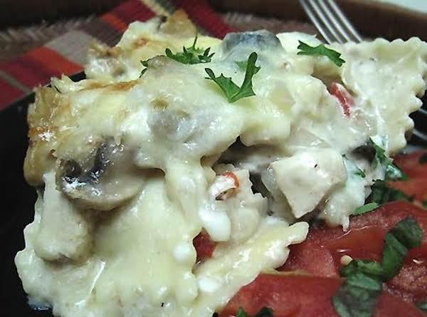 Cheese Ravioli Lasagna Alfredo