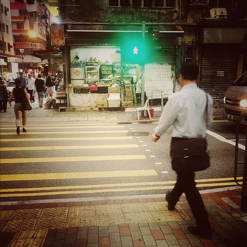 街, 人行橫道, 香港, 斑馬線, hong kong, street, crosswalk