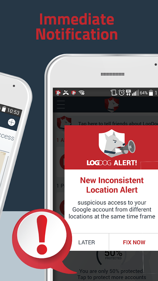 Stop Hackers & Security LogDog- screenshot