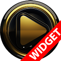 Poweramp widgetpack BLACK GOLD icon