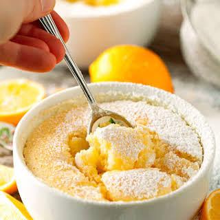 Gooey Lemon Soufflé Pudding Cakes.