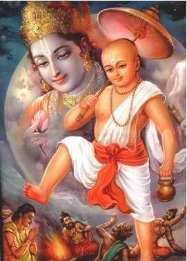Three steps of Lord Vamana