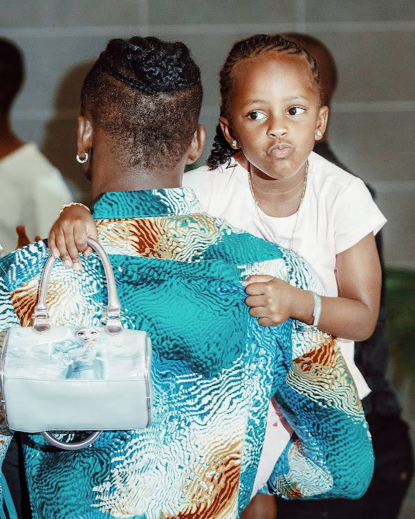 Diamond Platnumz and daughter Tiffah