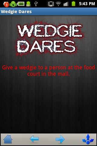 Wedgie dares to do alone