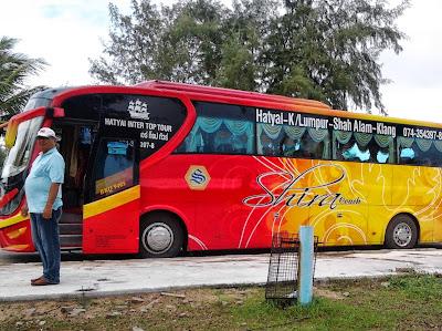 Travel from Krabi to Kuala Lumpur by shared minivan and bus