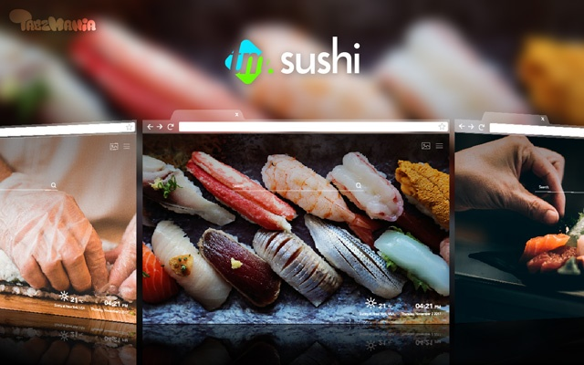 Cute Sushi Wallpaper for your new Tab