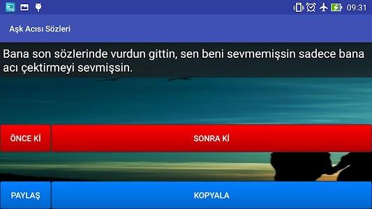 Aşk Acısı Sözleri screenshot 6