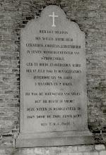 Photo: 1867 Grafsteen aan de kerkmuur van burgemeester Gerardus Cornelus Luijsterburgh, ambtsperiode: 1838 - 1843. Voor die tijd was hij (sedert 1815) 'Schout' van Princenhage