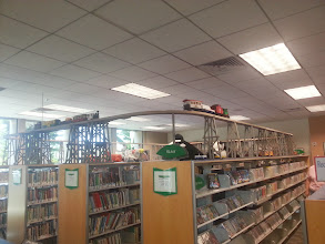 Photo: Train at the library
