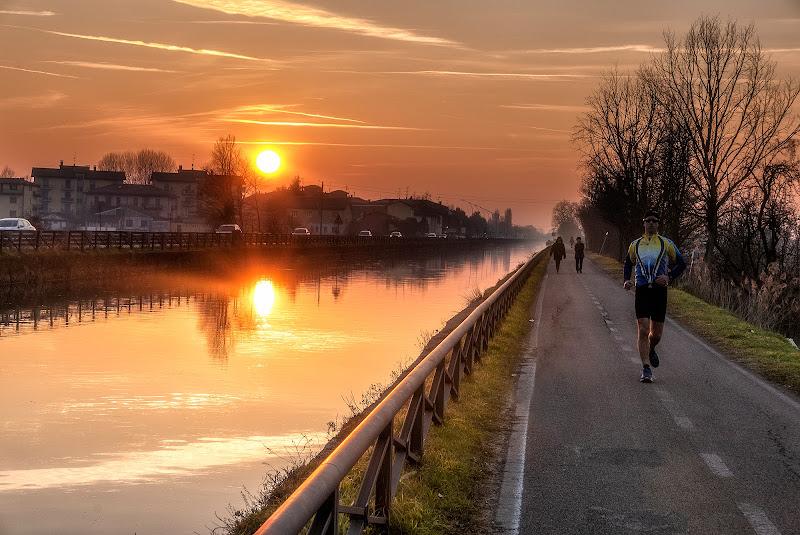 jogging lungo il Naviglio di angart71