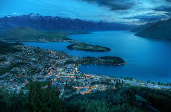 Photo: Queenstown From Above  My friend Gordon from Camera Labs (be sure to visit his site) goes up here to test a lot of his cameras and lenses. There's a mountain here that you can reach by gondola, and the view is, well, as you can see, quite perfect! In this case, I used my new 28-300 lens, which worked out pretty well.  from the blog www.stuckincustoms.com