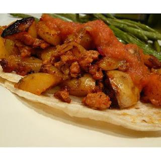 Tacos De Papa Y Chorizo