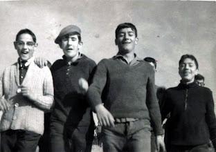 Photo: De paseo a Quintana. Leónides, Medarde, Gallego, Bernardo López,  Andrés Cortés.