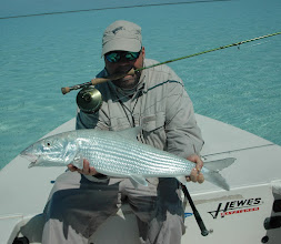 Photo: Andy Jensen with a monster 13lb bonefish- Spring 2012 Mad River Outfitters