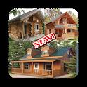 Wooden house design 2019 icon