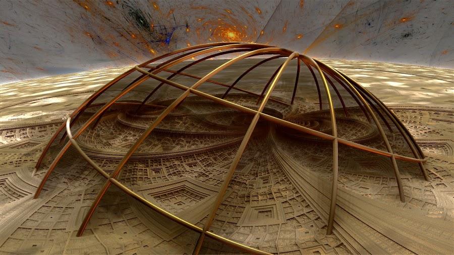 Sunken Coliseum by Rick Eskridge - Illustration Buildings ( jwildfire, buildings, mb3d, fractal, twisted brush )