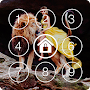 Girl and Lions Lock Screen & Wallpaper Pattern APK icon