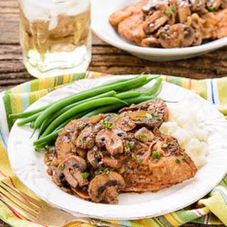 Garlicky Balsamic Chicken and Mushrooms.